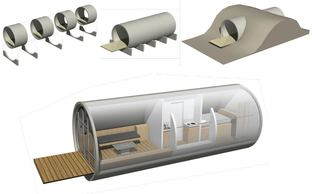 Weekend Pipe House | we design | habitat design | Micro