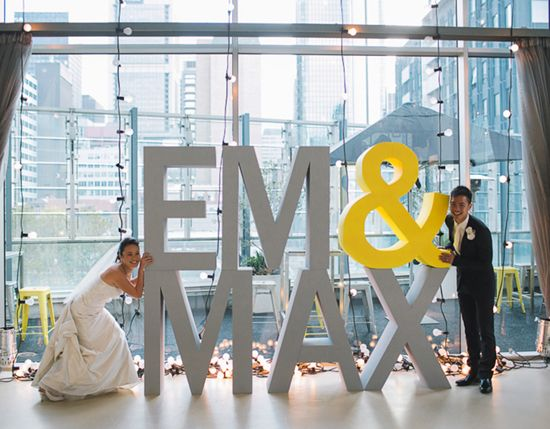 Em And Max S Modern City Wedding Pottery Barn Weddings Pinterest Typography