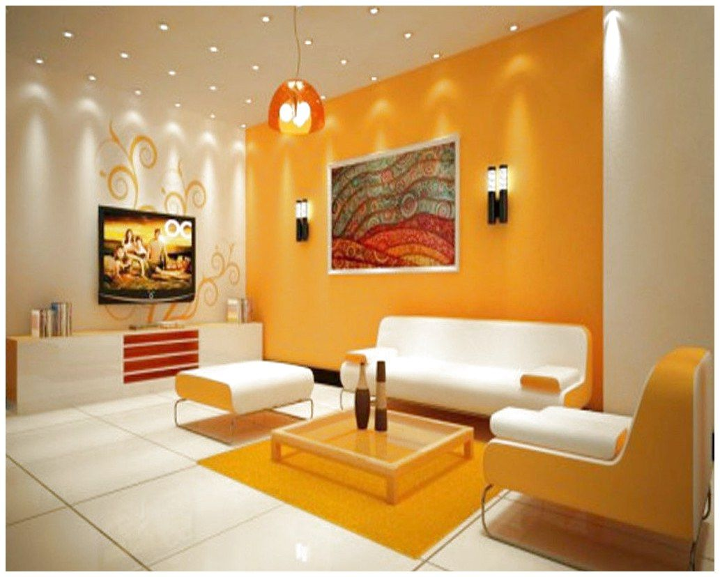 Wonderful Orange White Wall Color Complete Picture Frame And Black