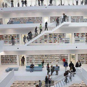 the Stuttgart City Library, i.e. the White Library / Stuttgart, Geany