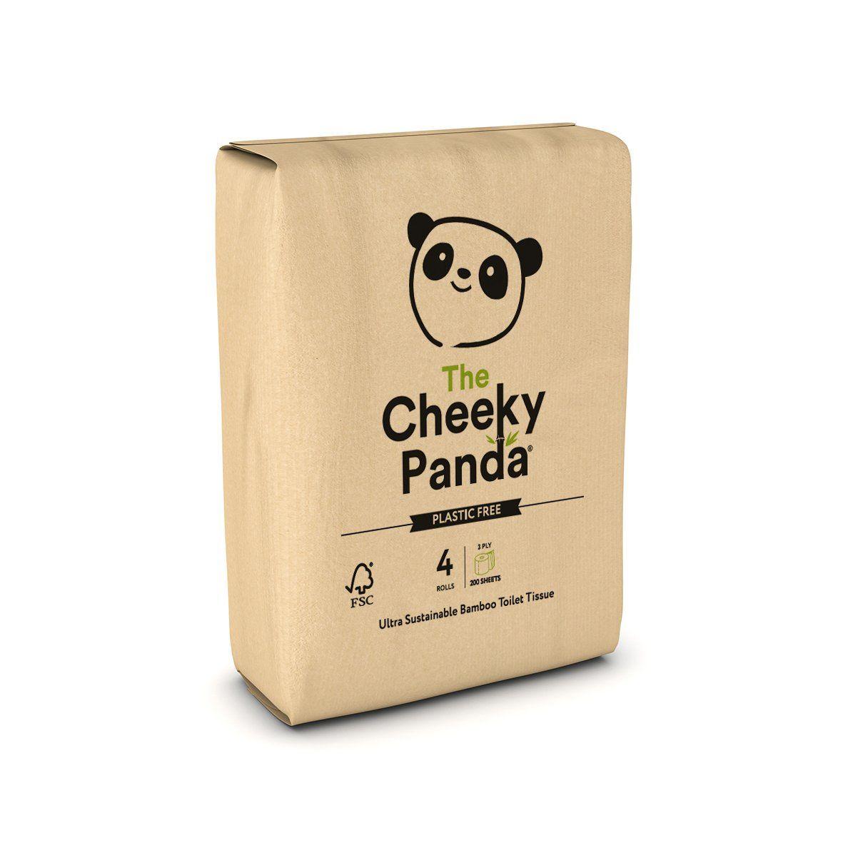 Cheeky Panda Plastic Free Toilet Tissue 4 pack Plastic