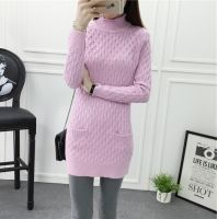 Cheapest New Autumn Turtleneck Pullover Knitsweater Pink&Purple