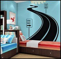 Road Track Car Band Traffic Sign Wall Decal Chases Bedroom - Wall decals carsracing car wall decal ideas for the kids pinterest wall