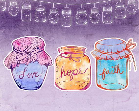 Glass Jars Clipart Mason Vintage Jar Crafts String Lights Illustrator EPS Ai File Stamp