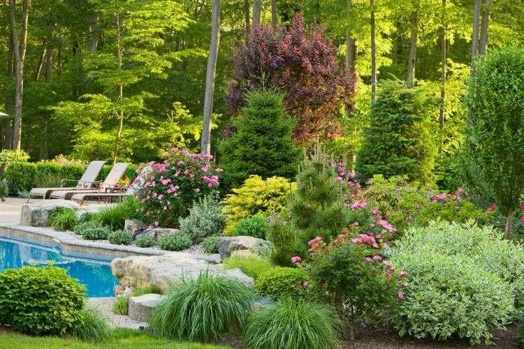Terrasse et jardin en 105 photos fascinantes pour vous for Jardin anglais terrasse