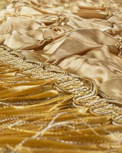 Gold Pintuck Tree Skirt | Balsam Hill