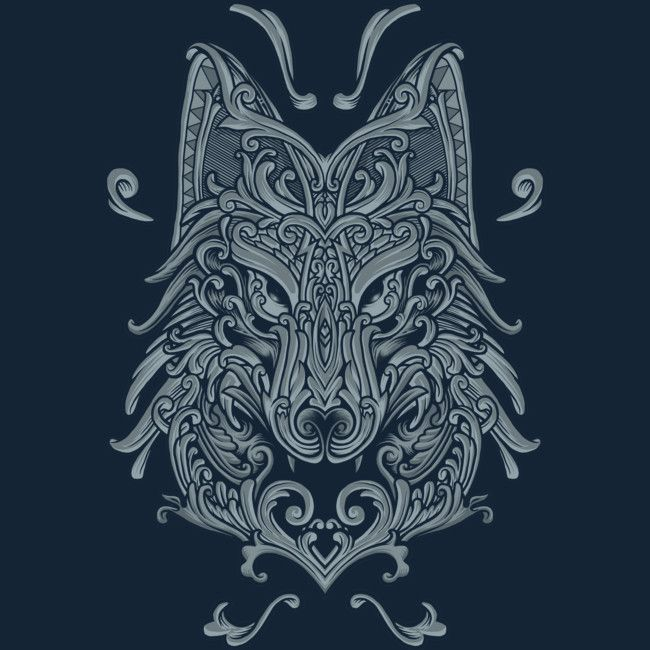Wolf T Shirt By Angoes Design By Humans Norse Tattoo Viking Tattoos Nordic Tattoo