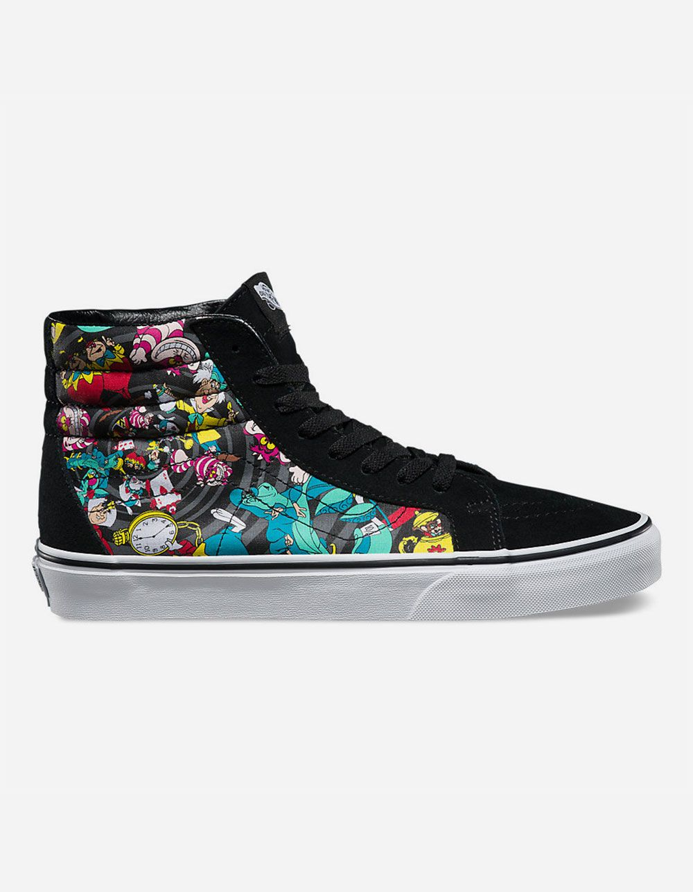 c0866c01a8cdc6 womens 8.5 Disney Alice in wonderland Vans sk8-hi