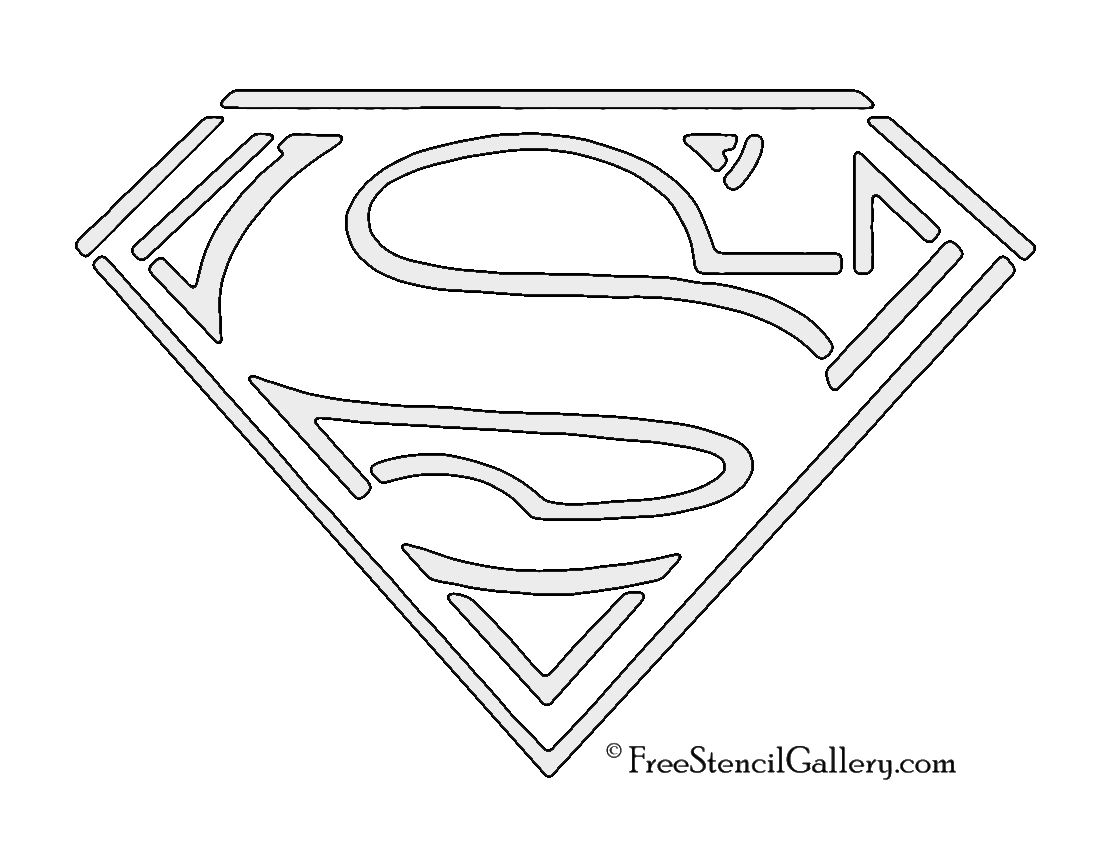 Superman Symbol Stencil Comic Book Hero Symbols Logos