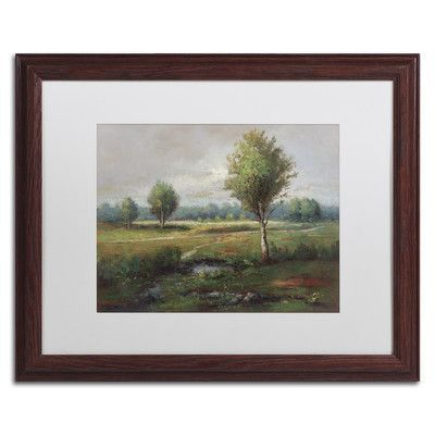 "Trademark Art ""Lonely Tree"" by Daniel Moises Matted Framed Painting Print Size: 1"