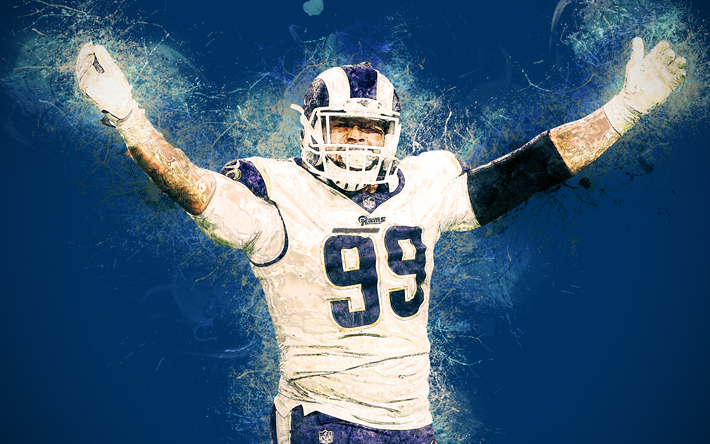 Download wallpapers Aaron Donald, American football player