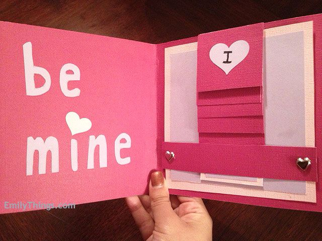 Waterfall card pull the tab and unveil a hidden valentines day – Valentine Cards with Messages