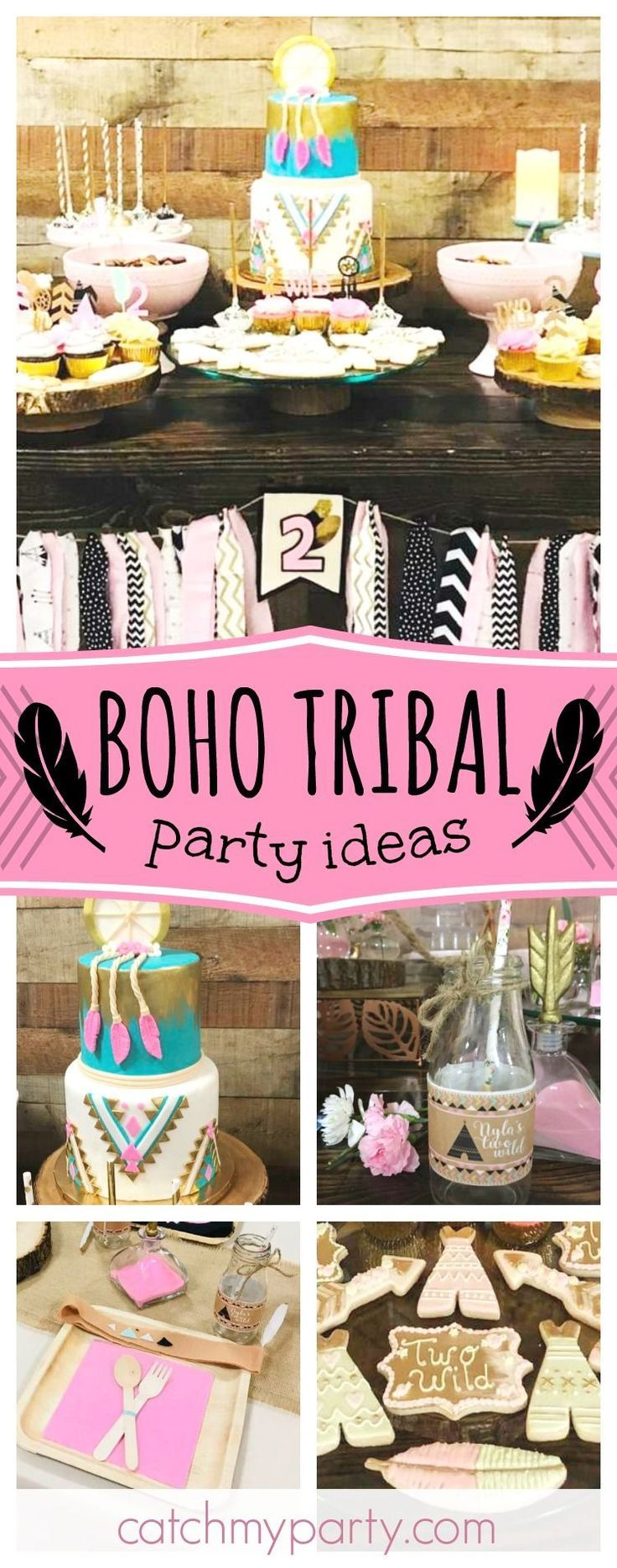 "Tribal / Birthday ""Nyla's ""Two"" Wild Boho Chic Party"