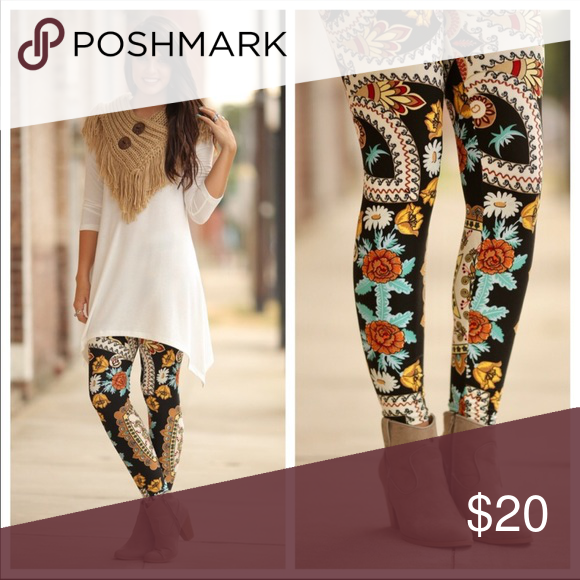0670bd15bea5f8 😍🆕Fall Paisley Print Leggings🆕😍 🆕These very soft and comfy leggings  are 92% polyester and 8% spandex. They fit sizes 2-12 comfortably.🆕 Infinity  Raine ...
