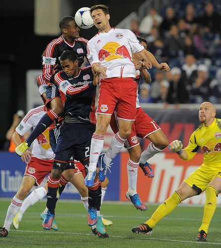 Darrius Barnes scores the equalizer. Revolution vs. NY Red Bulls September 22, 2012