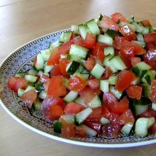 Salade marocaine simple concombre tomate salade for Petite entree simple