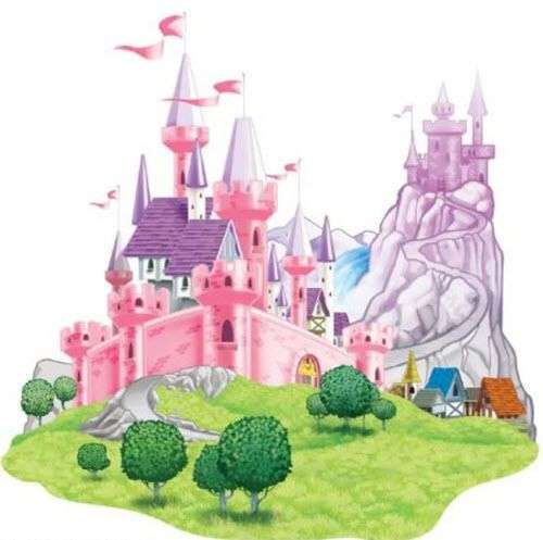 PRINCESS CASTLE scene setter HAPPY BIRTHDAY party wall decoration