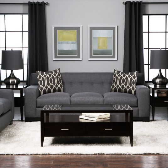 Charcoal Sofa Set | Sofa And Loveseat For Sale | Jeromeu0027s