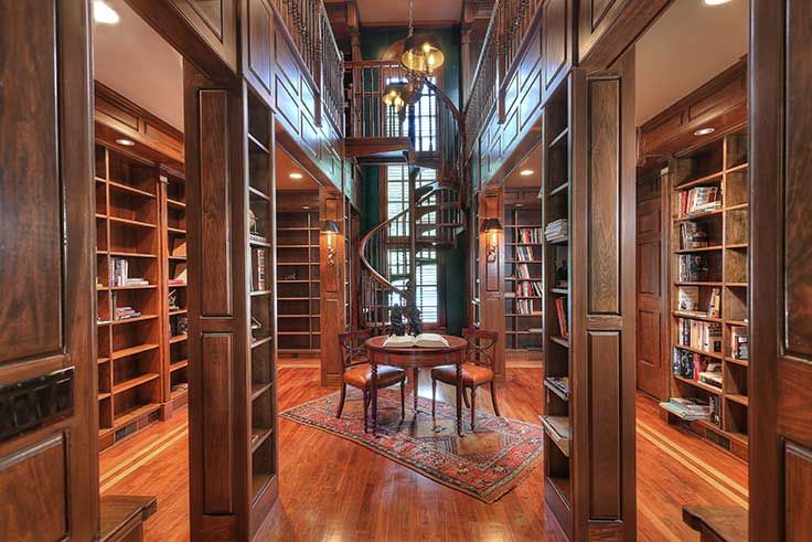 Luxury living: Private libraries in 2020 | Home design floor plans ...