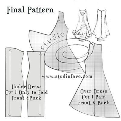 Fun with Knit Fabrics! #PatternPuzzle - Two Layer Jersey Dress  #PatternMaking