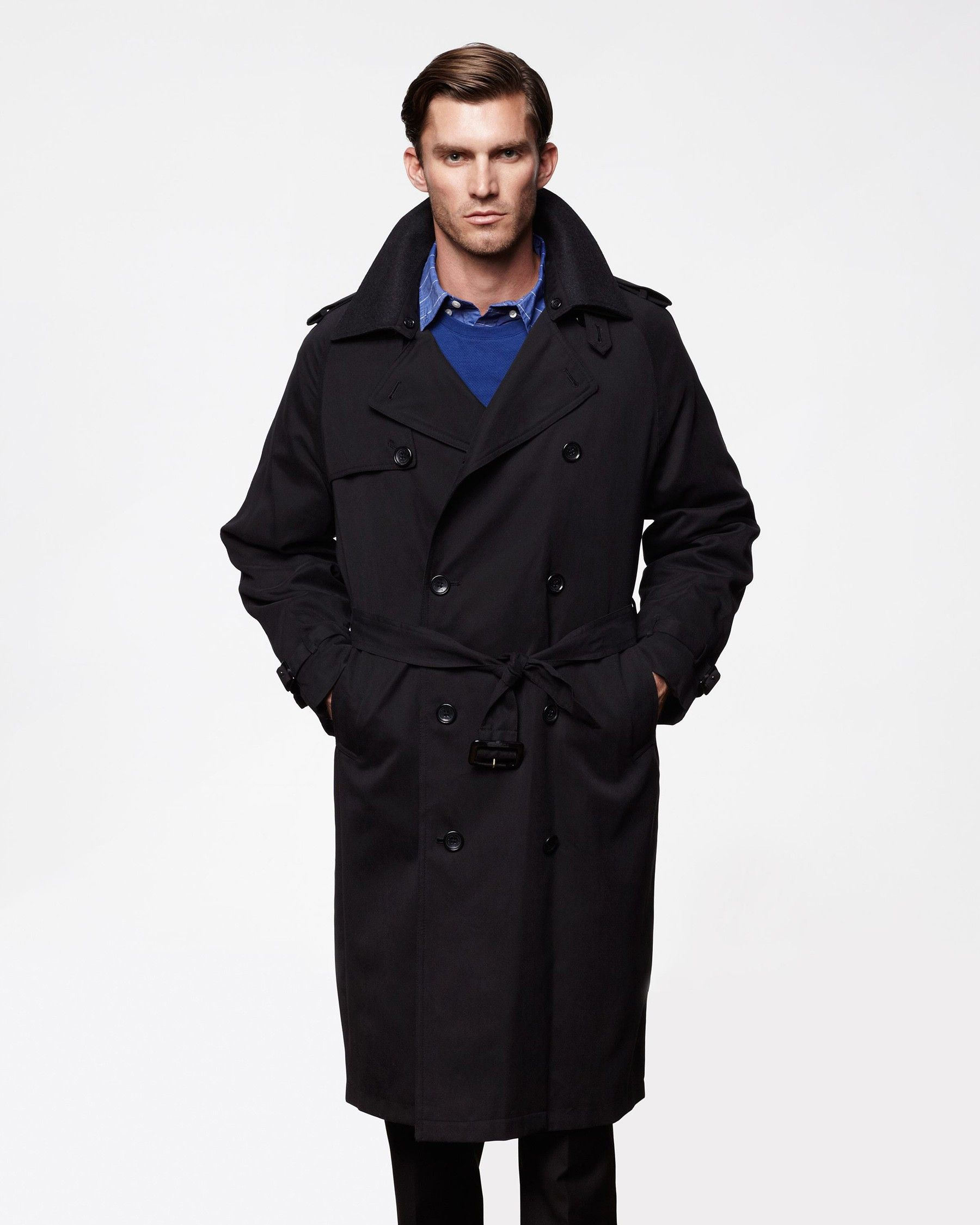 Raleigh Long Trench Coat For Men Double Breasted In 2020 Trench Coat Men Long Trench Coat Trench Coat