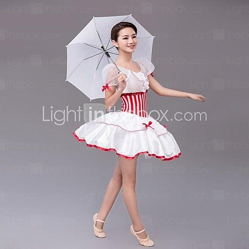 Ballet Women's Chiffon/Polyester Bowknot Performance Dress | LightInTheBox