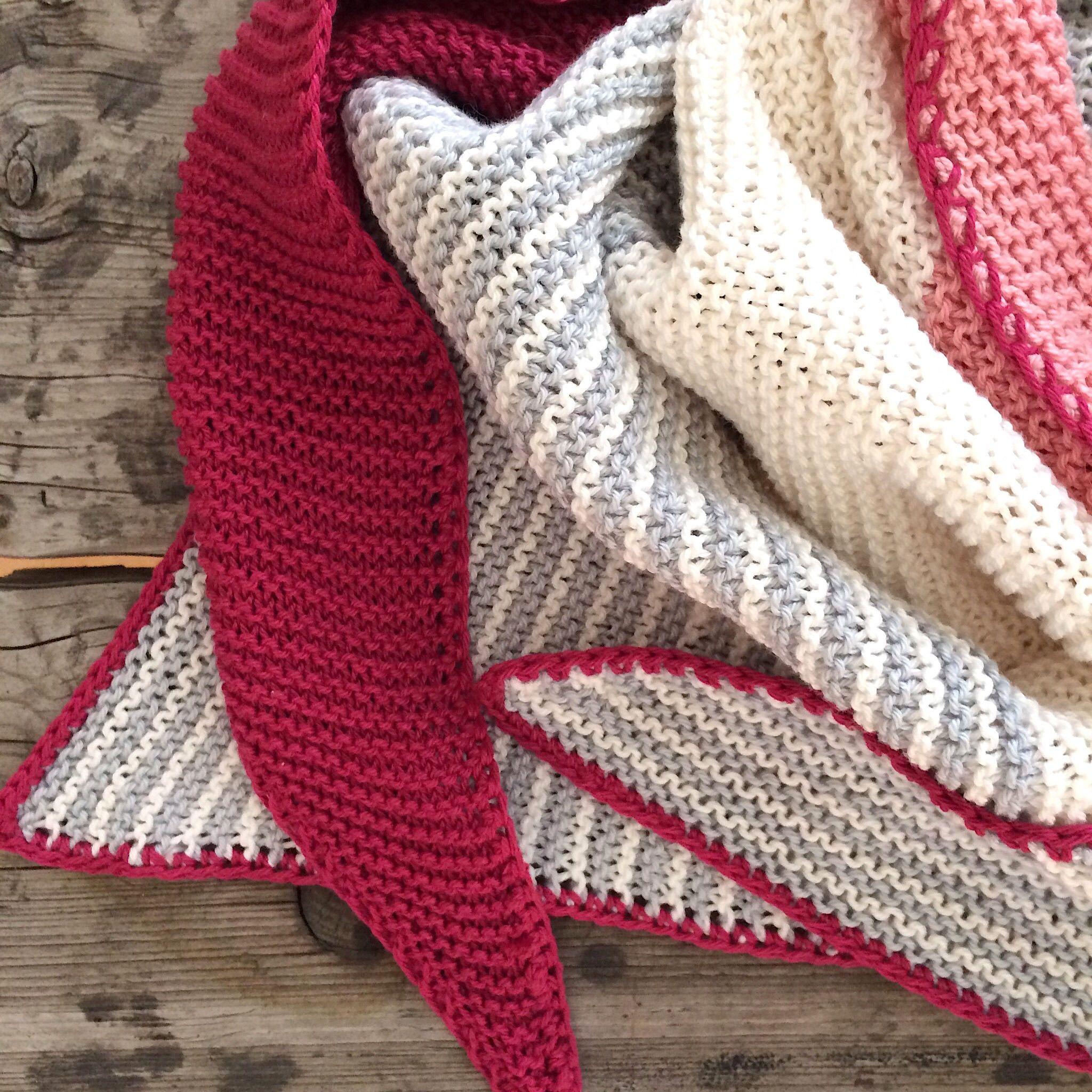 Photo of Ich habe für den Sommer einen dreieckigen Schal aus Baumwollgarn gestrickt! Ideal …