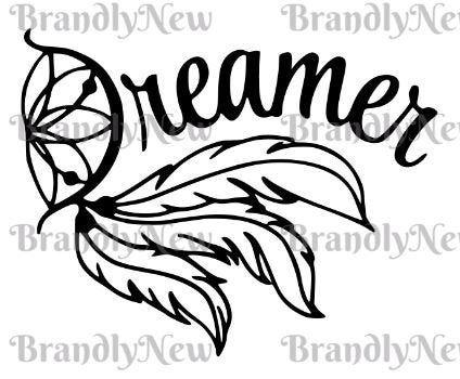 Dreamer with Dream Catcher Design / SVG  PNG  DXF Download / | Etsy