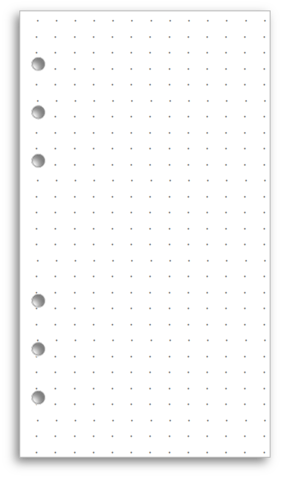 image regarding A5 Dot Grid Printable titled My Lifestyle All inside of One particular Area - loads of filofax templates and