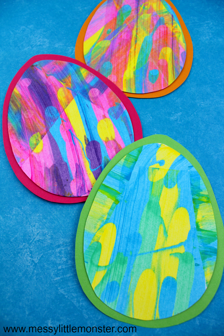 easter egg scrape painting craft with free easter egg template
