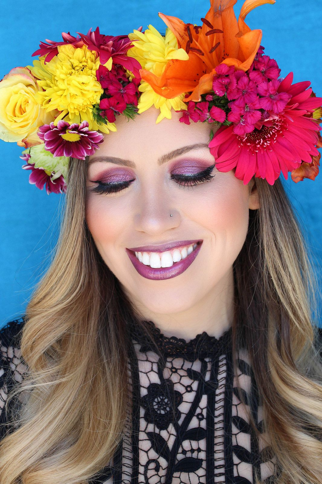 How to make a flower crown pinterest real flowers flower crowns how to make a flower crown easy diy real flower crown festive style inspired makeup izmirmasajfo