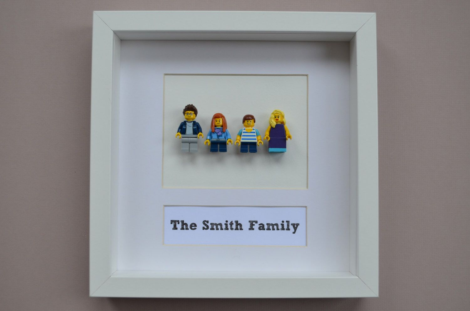 Personalised Family Portrait Matched your Family in Lego ® mini ...