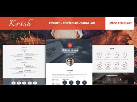 Krish Parallax One Page Resume  Portfolio Muse Theme Documentation