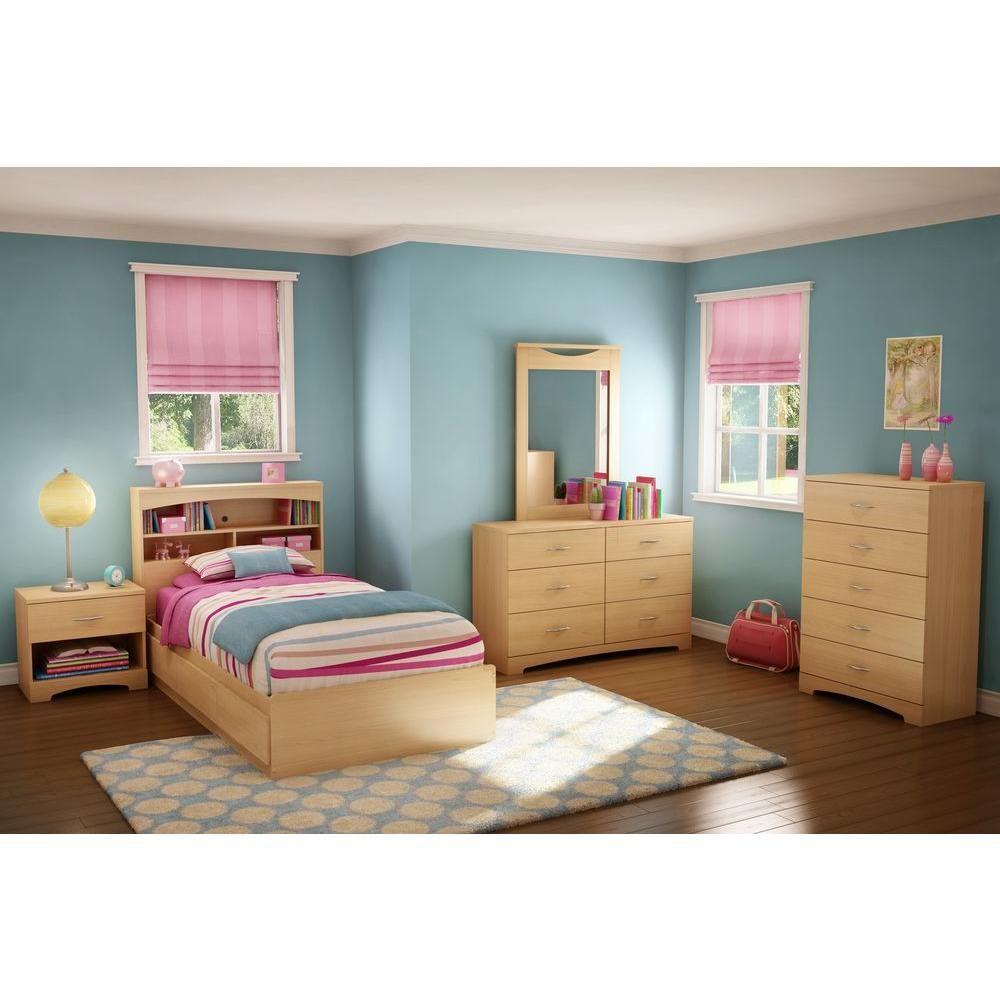 South Shore Urben Twin Kids Storage Bed 3113212 Kids Bedroom