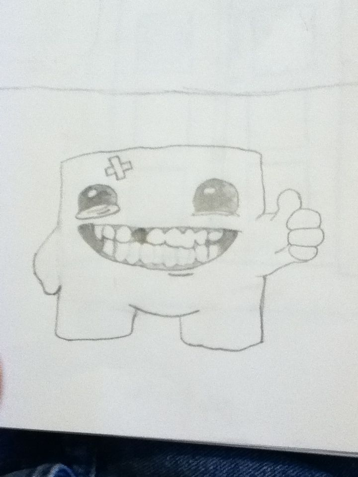 Super meat boy (from a video game)