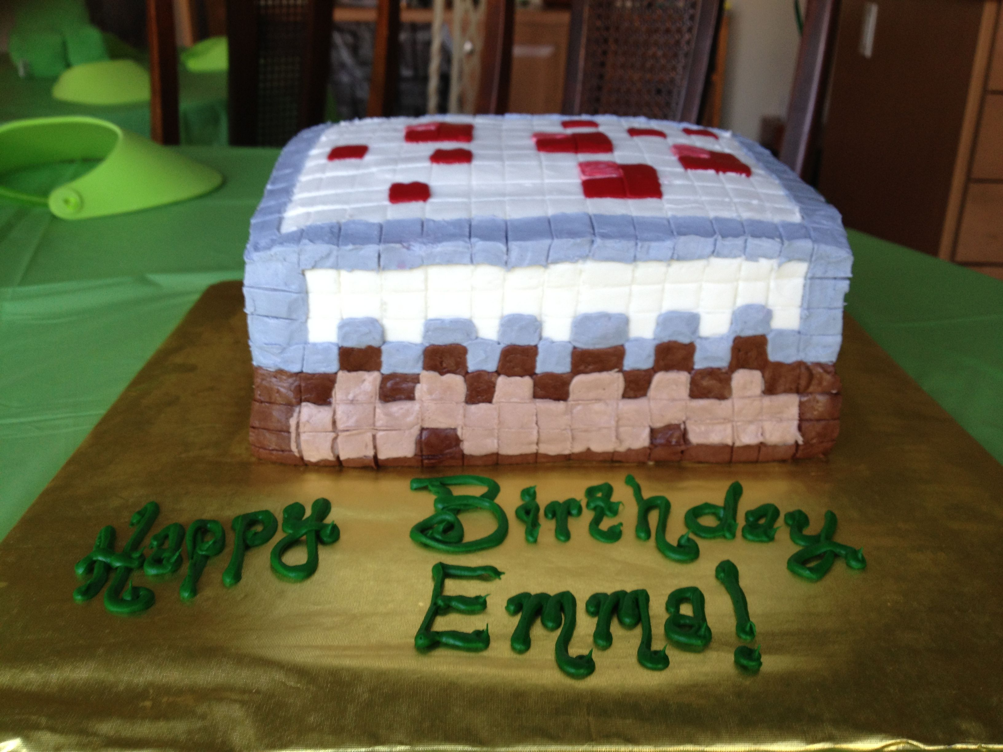 We Had A Minecraft Cake Made By Our Local Grocers Kroger Maker