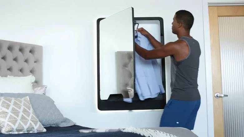 Tersa Steam Une Machine A Repasser Automatique Qui S Accroche Au Mur Comme Un Miroir Machine A Repasser Repasser Et Miroir