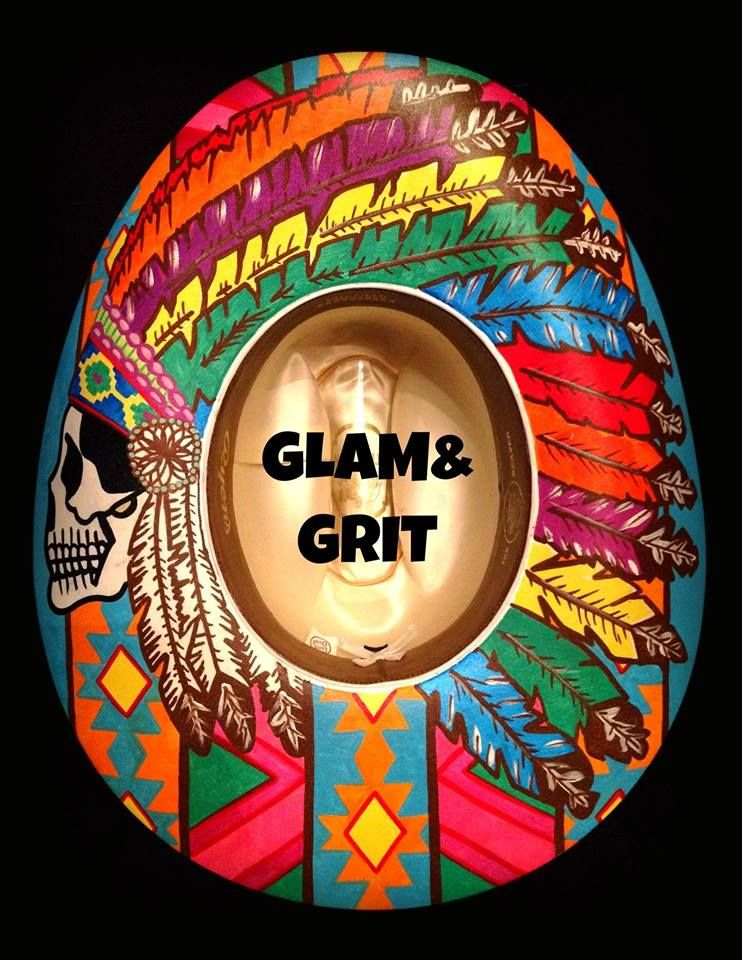 Glam and Grit painted hat  3230d8ece94d