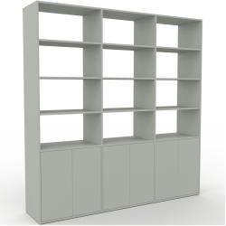 Photo of Wohnwand Sandgrau – Individuelle Designer-Regalwand: Türen in Sandgrau – Hochwertige Materialien – 2