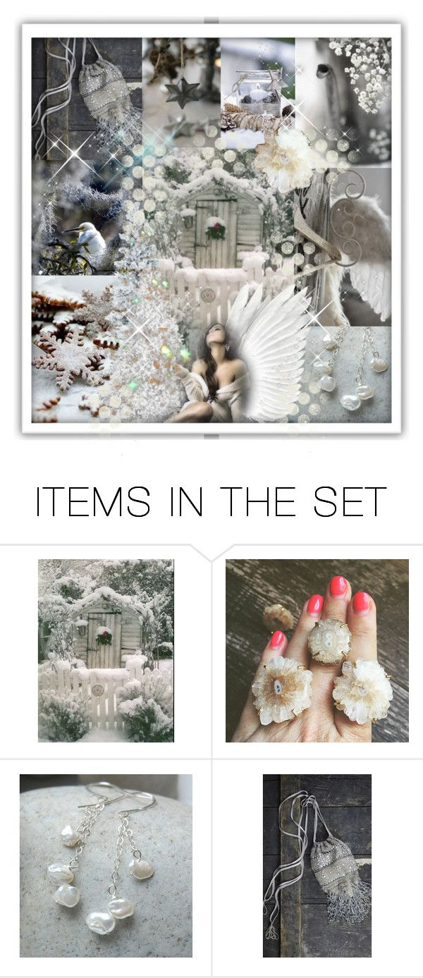 """""""Of Snow and Angel Wings....."""" by moonwingcrafts ❤ liked on Polyvore featuring art"""