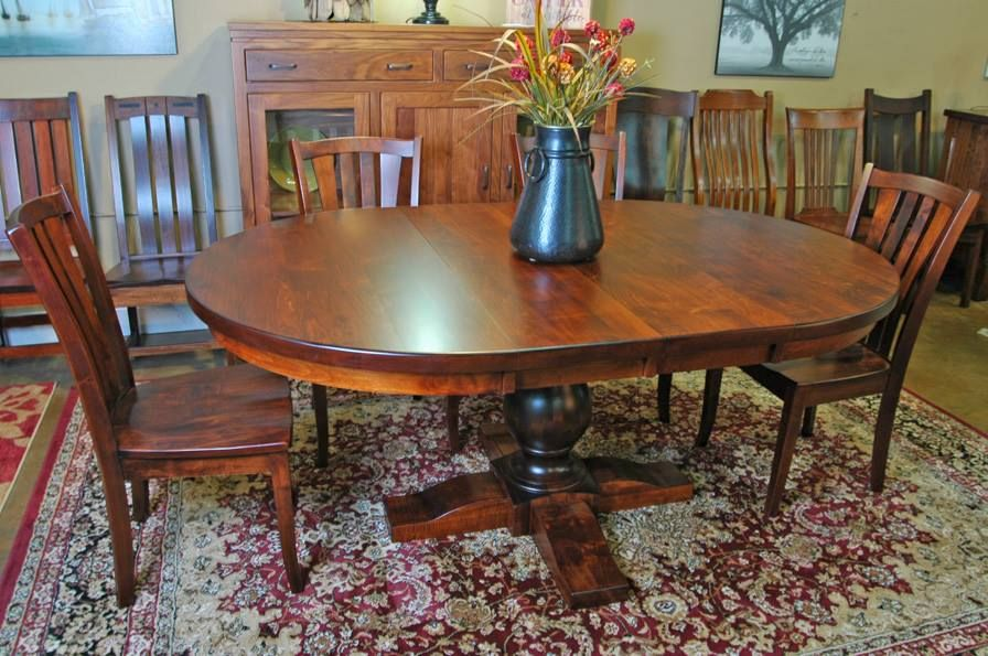 Oval Top Dining Table. | Oval table dining, Furniture ...