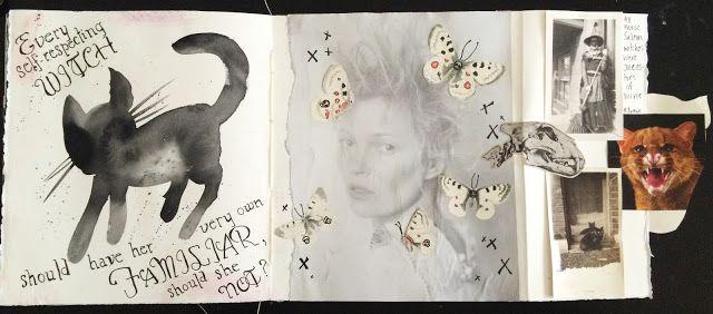 @dansmoncrane | Familiar | Season of Magic | Get Messy Art Journal