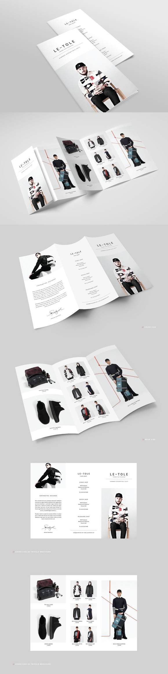 Fashion A Trifold Brochure  Fashion Design And Brochures