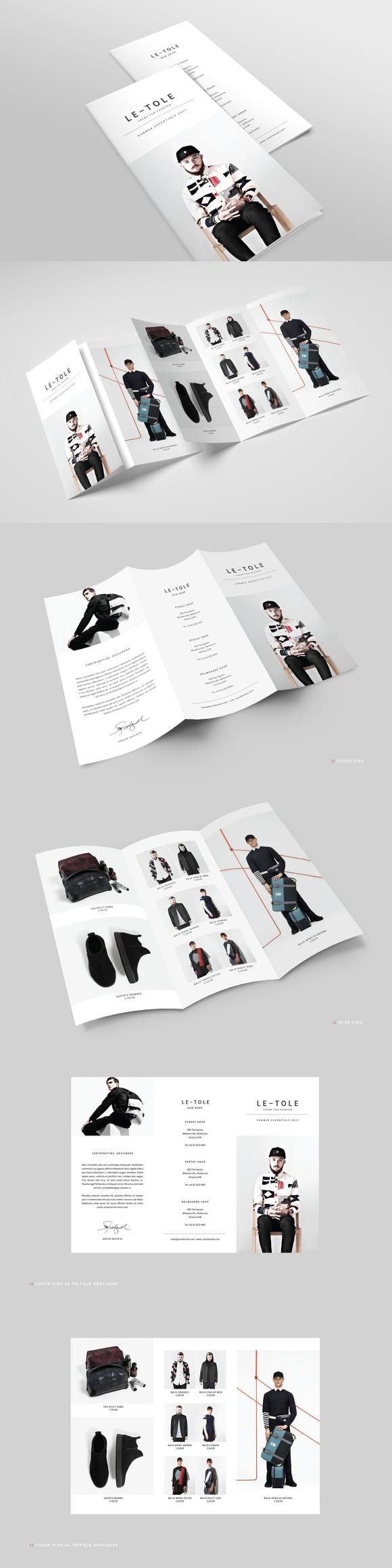 fashion a4 trifold brochure brochure templates pinterest