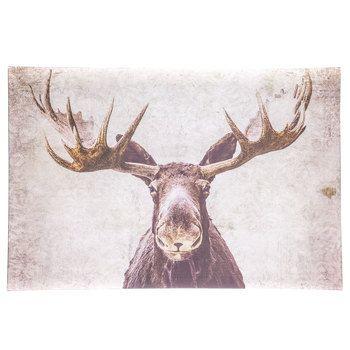 Moose Parchment Canvas Wall Decor Purchased MASTER Bedroom Reno - Moose wall decor