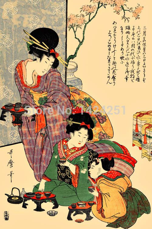printed-Ukiyoe-japan-style-geisha-wall-art-picture-on-canvas-for ...