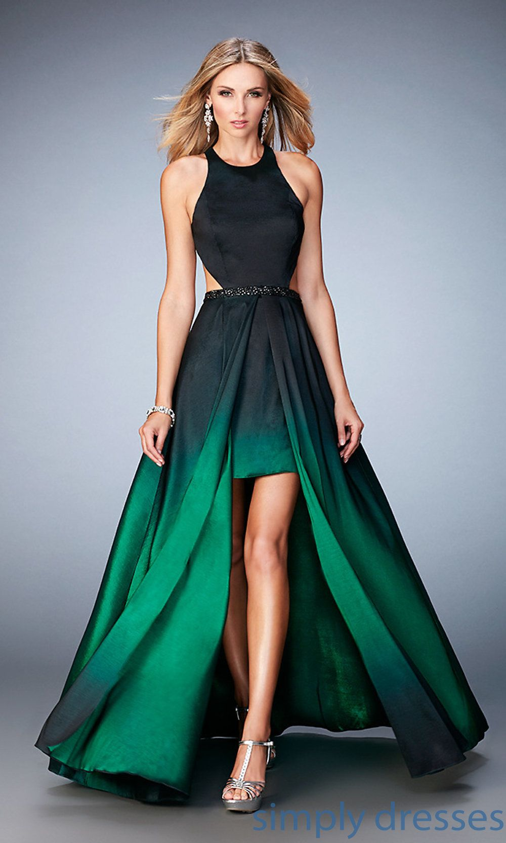 Ombre Dresses Prom Low High 0