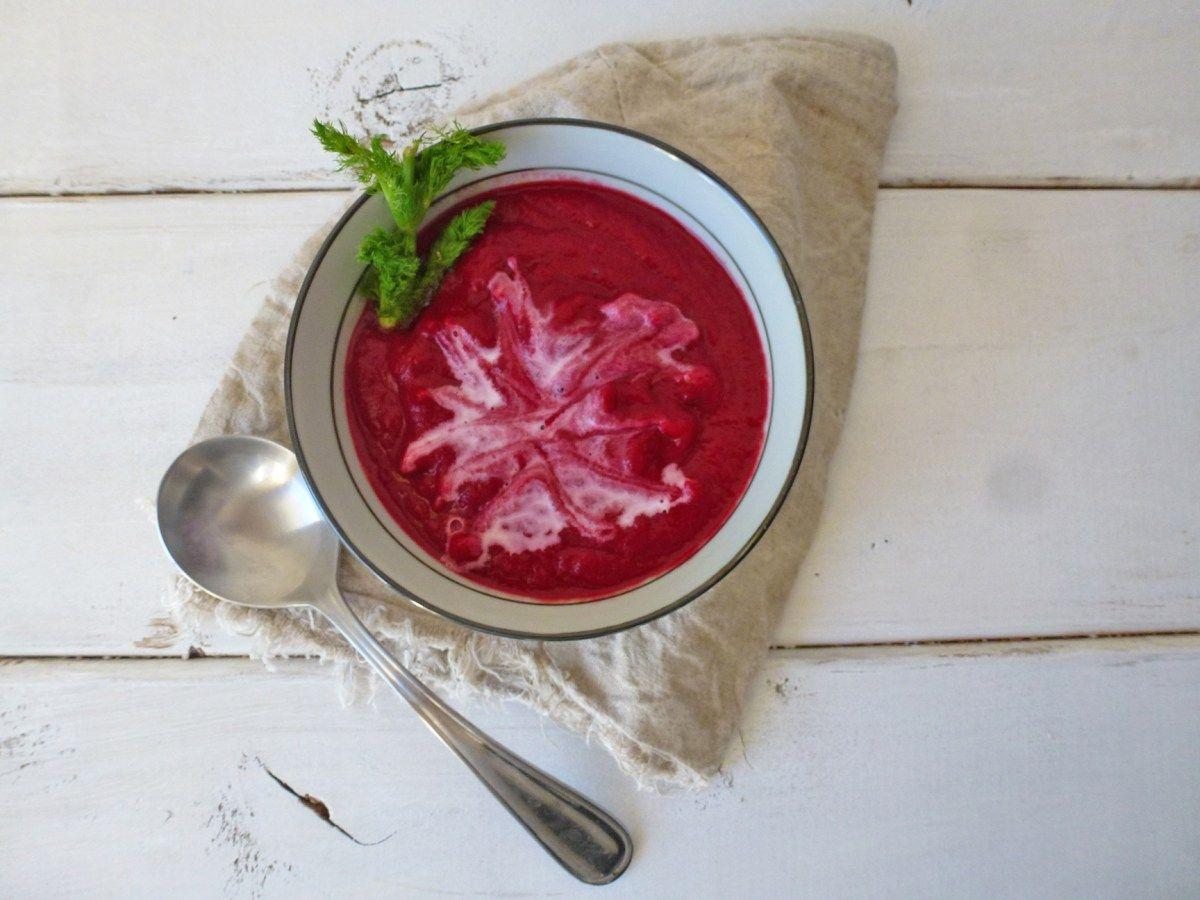 Velouté de légumes à la betterave (  détox, léger, vegan, sans céréales ) par kiwi-forme.net