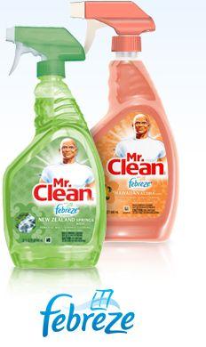 Mr. Clean W/ Febreze  New Favorite Kitchen Counter Cleaner :)