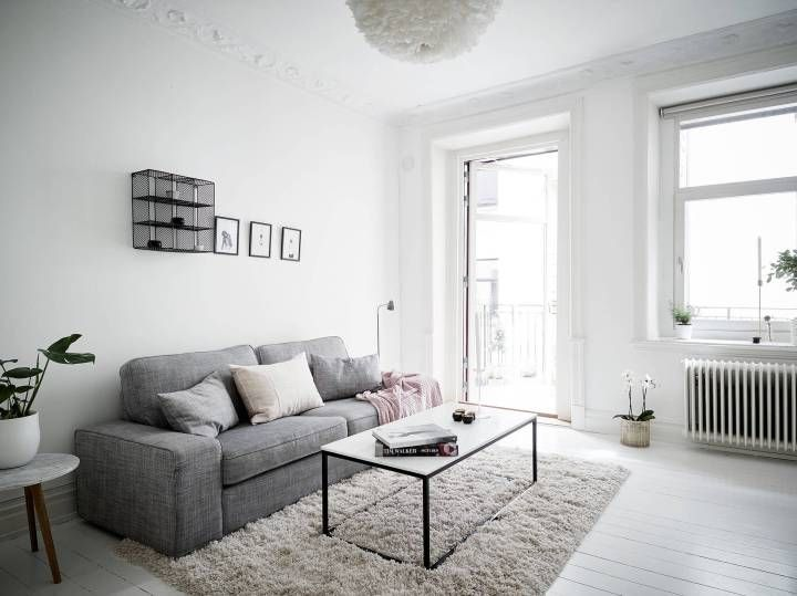 Refrescar una decoración con el color blanco Nordic interior - decoracion de pisos